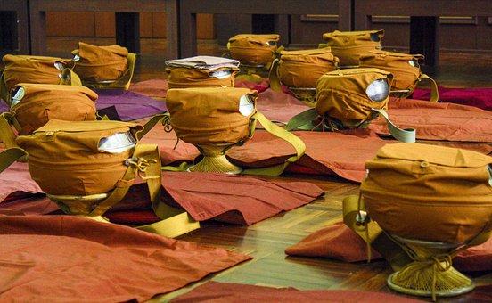 Monk Bowls, Ordination, Religion, Buddhist, Buddhism