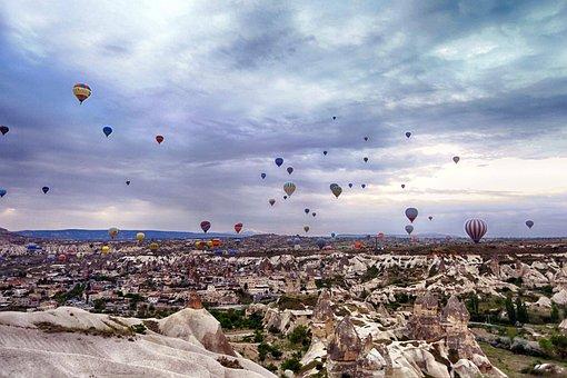 Cappadocia, Turkey, Hot Air Balloon, Turk, Air, Balloon