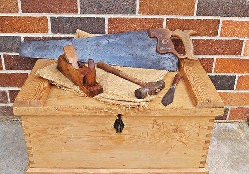 Carpenter's Toolbox, Tool Chest, Tool Kit, Tools
