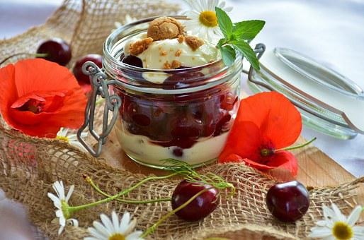 Compote, Dessert, Sweet Dish, Cherry Compote