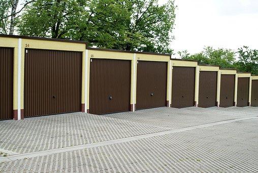 Garages, Car, City, Poland, Brick, Concrete, Can