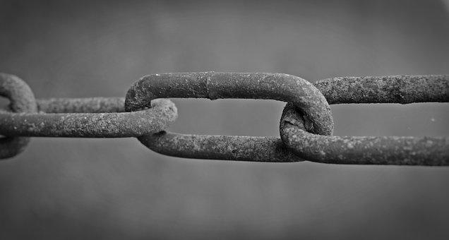 Chain, Containing, Force, Rusted, Connection