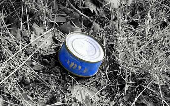 Can, Blue, Nature, Contamination, Field, Environmental