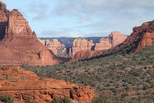 Sedona, Landscape, Arizona, Southwest, Mountain, Desert