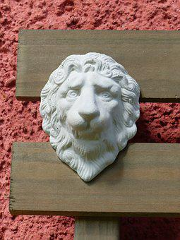 Lion, Wood, Facade, Wall, Colors, Summer, Plaster
