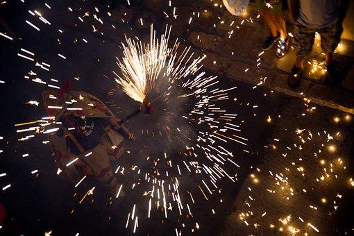 Correfoc, Festa Major, Sitges, Fire Show
