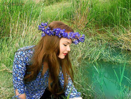 Story, Girl, Beauty, Spring, Grass, Nature, Summer