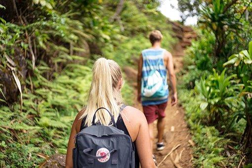 Hike, Hikers, Scene, Climb, Boyfriend, Girlfriend, Girl