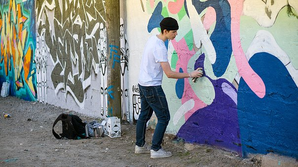 Graffiti Painter, Hipster, Adolescent, Aerosol, Artist