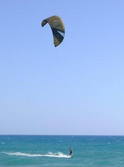Kitesurfer, Sports, Sea, Surf, Water
