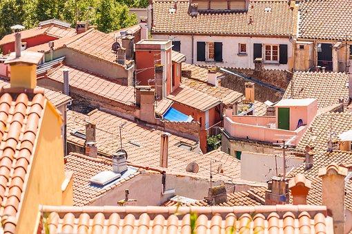 Roofs, Collioure, Pyrénées, France, Landscape, South