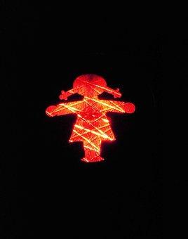 Traffic Lights, Little Green Man, Ddr, Red, Stop