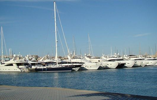 Yachts, Sea, Majorca, Spain, Marina, Haven