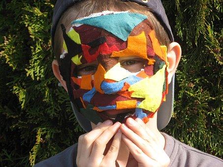 Carnival, Mask, Plaster Mask, Students