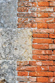 Wall, Stone, Bricks, Building, Plaster, Texture, Paint