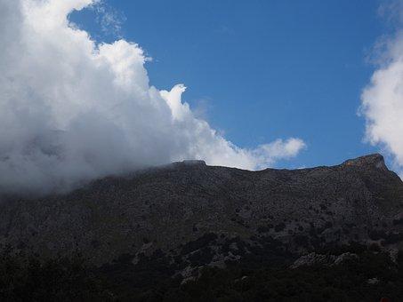 Mountain, Clouds, Landscape, Puig Major, Mallorca