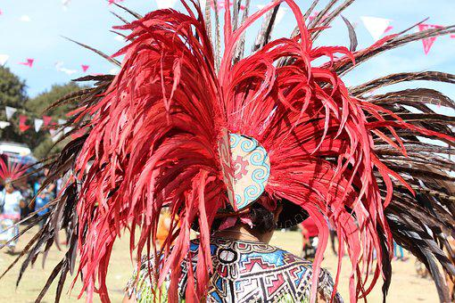 Feathers, Tuft, Red, Plumage, Indian, Ritual