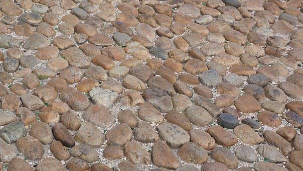 Cobblestones, Road, Away, Read Stone Paving