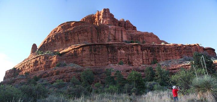Sedona, Arizona, Red Rocks, Buttes, Desert, Usa, Rock