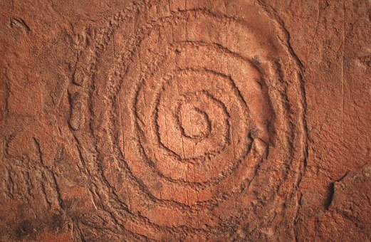 Sedona, Native American Rock Art, Spiral, Indian