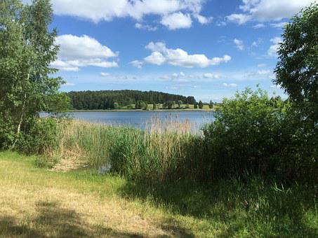 Poland, Summer, Masuria, Olsztyn, Lake, Water, Sky
