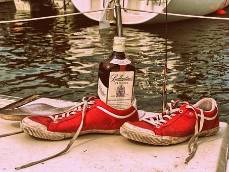Ballantines, Whisky, Sneakers, Water, Sailing, Haven