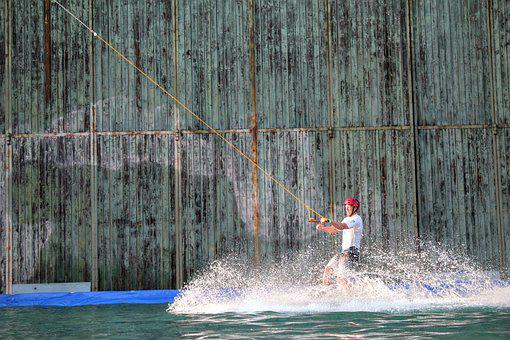 Water, Wakeboard, Water Sports, Most Rope, Sparkling