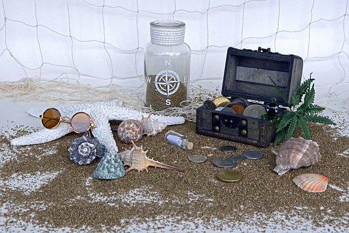 Treasure Chest, Sand, Squid, Palm, Starfish, Mussels