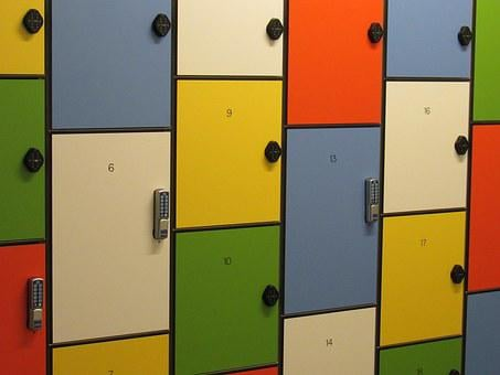 Locker, Storage, Colorful, Closed, Storage Unit