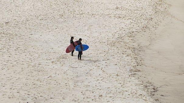 Surfer, Beach, Surfboard, Sand, Surfing, Surf, Vacation