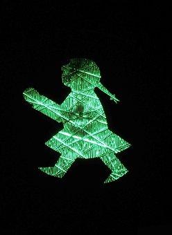 Traffic Lights, Little Green Man, Ddr, Green, Go