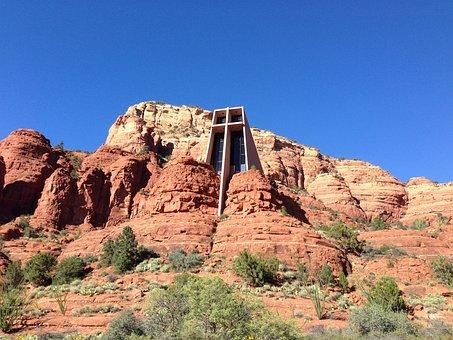 Sedona, Az, Church, Red Rock, Travel
