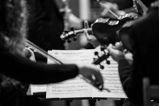Concert, Sheet Music, Violins