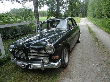 Car, Volvo, Amazon, Polar, Summer, Finnish, Old