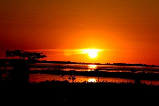 Amazonas, Sunset, Amazon River, Brazil