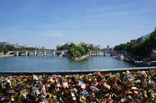Love Locks, Castle, France, Paris, Love, Architecture
