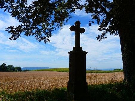Cross, Away Crosses, Monument, Mark, Stone, Landscape