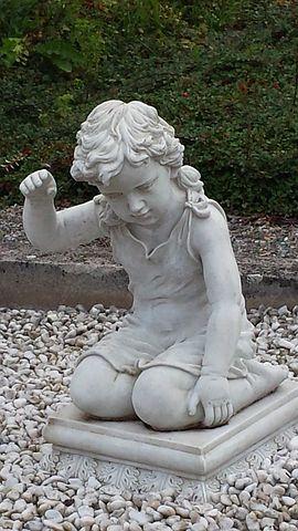 Sculpture, Child, Cemetery, Statue, Boy, Kneeling