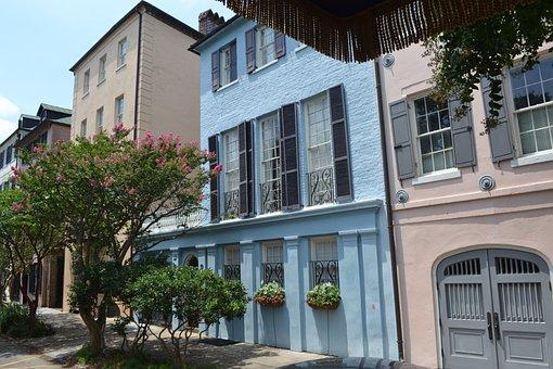 Charleston, Rainbow Row, Charleston South Carolina