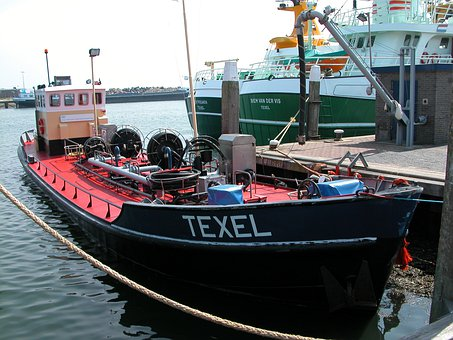 Ship, Boot, Port, Sea, Cutter, Texel, Island, Water
