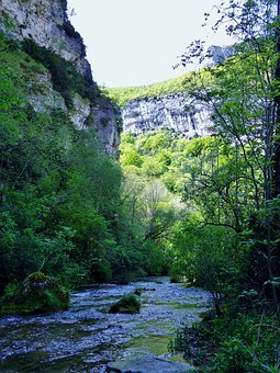 Fall Of The Druise, Drôme, France, Gorges, Omblèze