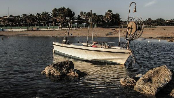 Cyprus, Kermia, Fishing Boat, Fishing Shelter