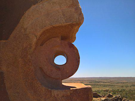 Sculpture, Rock, Desert, Dry, Carvings, Formation