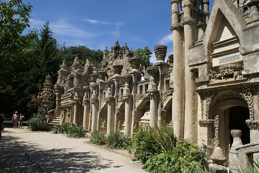 France, Drome, Hauterive, Palace, Postman, Cheval