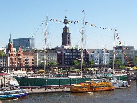 Hamburg, Rickmer Rickmers, Sailing Vessel, Museum Ship