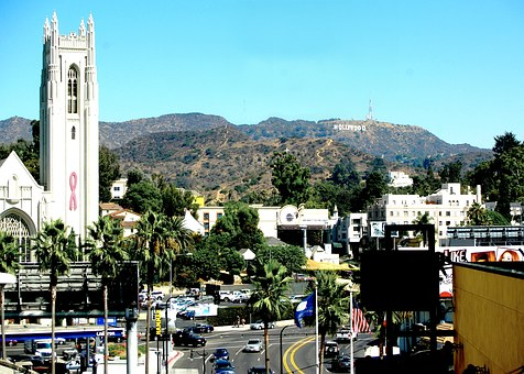 Usa, California, Los Angeles, Hollywood, Church