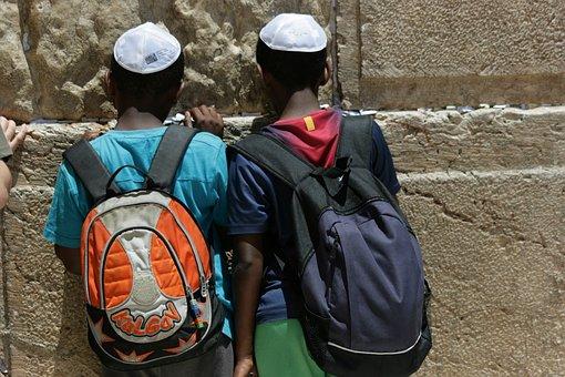 African, Boy, Prayer, Western Wall, Judaism, Kip