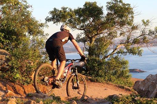 Enduro, Mtb, Moutain Bike, Sun, Bike, Pilot, Beach, Mar