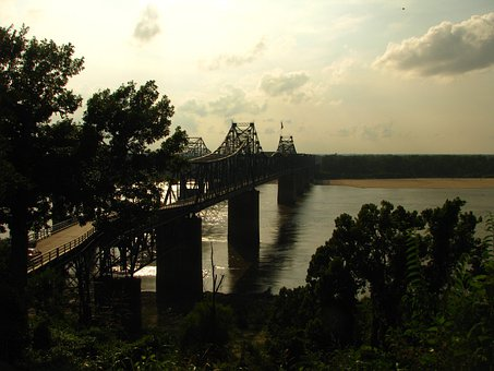 Vicksburg, Ms, Mississippi, River, Bridge, Structure