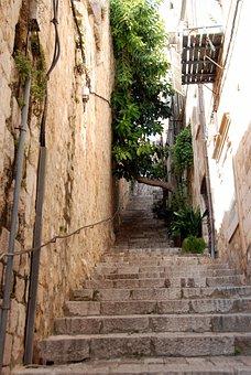 Stairs, Street, Europe, Staircase, Narrow, Dubrovnik